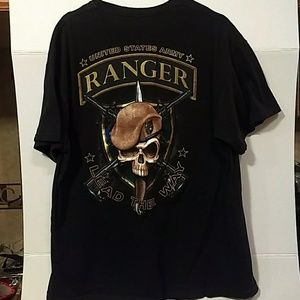 Shirts Army Ranger Tee Shirt Sz Xl Black Poshmark